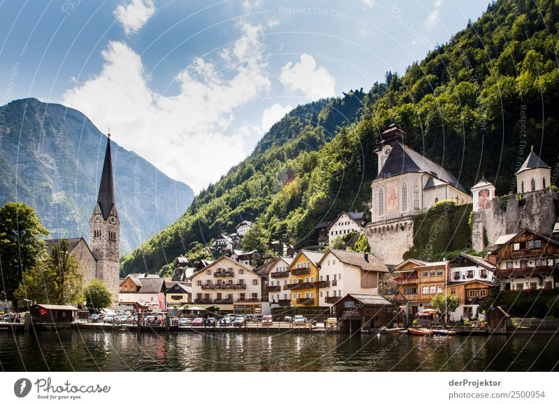 Hallstatt at Lake Hallstatt Vacation & Travel Tourism Trip Freedom Sightseeing City trip Cruise Summer vacation Mountain Hiking Environment Nature Alps Waves