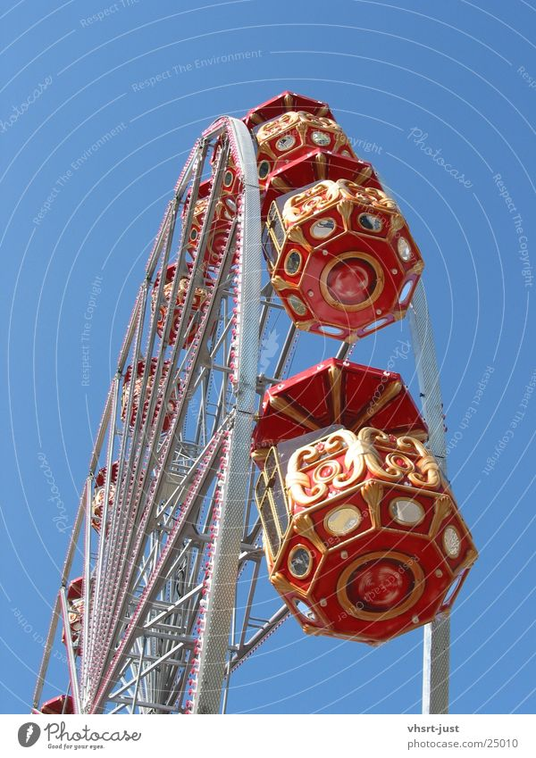 Old Sky Blue Red Joy Graffiti Aviation Round Historic Beautiful weather Paying Ferris wheel Whim Emotions