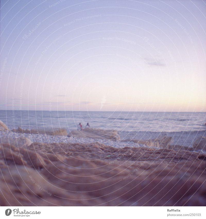 Sky Water Blue Summer Beach Ocean Clouds Happy Sand Stone Couple Waves Sit Fresh Illuminate Vantage point