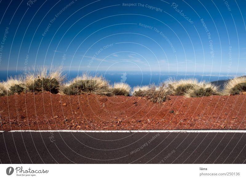 Sky Blue Ocean Street Gray Brown Earth Exceptional Asphalt Volcano Tenerife