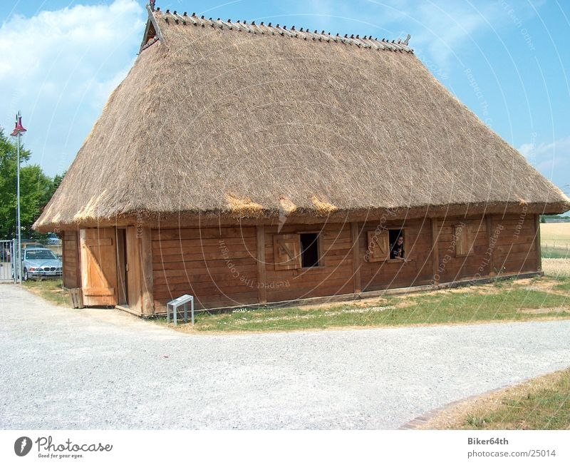 House (Residential Structure) Village Historic Habitat Celts Thatched roof
