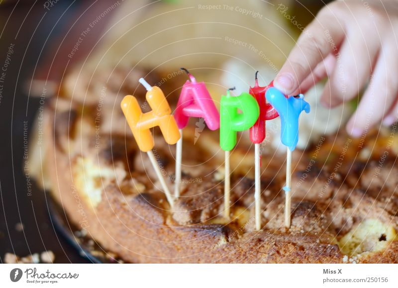 Human being Child Hand Nutrition Food Feasts & Celebrations Infancy Birthday Fingers Sweet Candle Toddler Cake Delicious Baked goods Dough