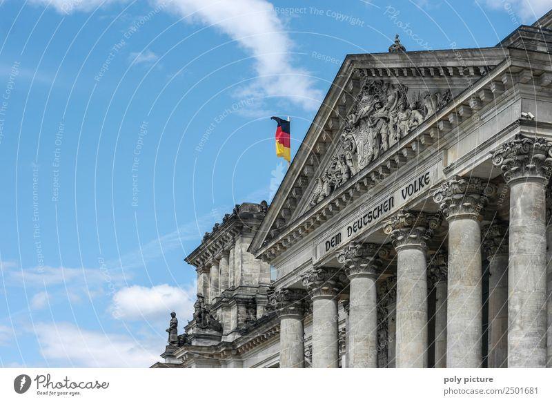 """""""Dem deutschen Volke"""" Writing on the Bundestag / Reichstag Art Work of art Architecture Culture Berlin Society Identity Uniqueness War Politics and state Pride"""