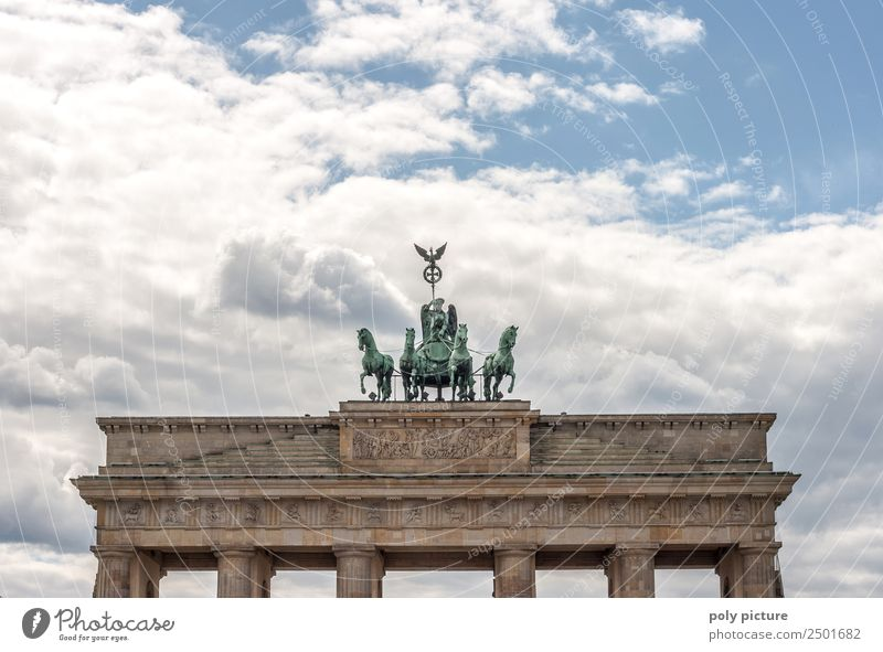 Brandenburg Gate - Berlin - Germany Culture Town Capital city Downtown Old town Deserted Tourist Attraction Landmark Monument Esthetic Decadence