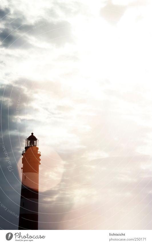 Sky Sun Vacation & Travel Ocean Clouds Landscape Coast Bright Lighting Island North Sea Beautiful weather Lighthouse Illuminate Lens flare Amrum