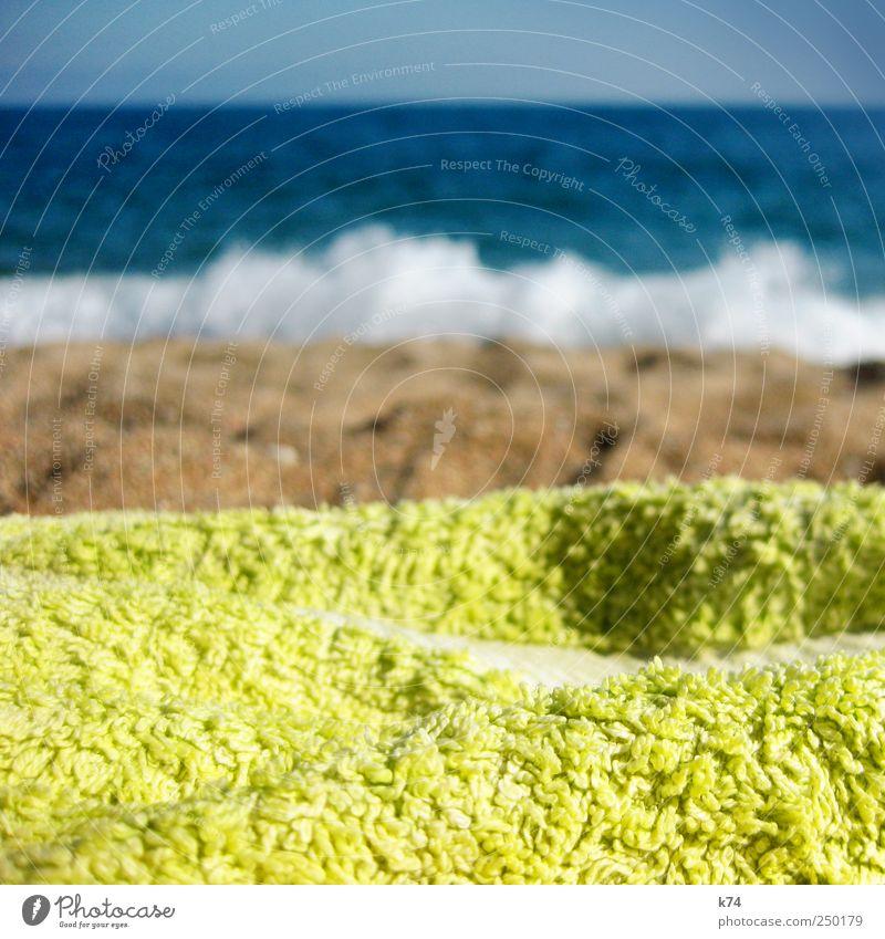 Sky Water Blue Summer Beach Ocean Calm Relaxation Sand Coast Bright Brown Waves Swimming & Bathing Lie Hot