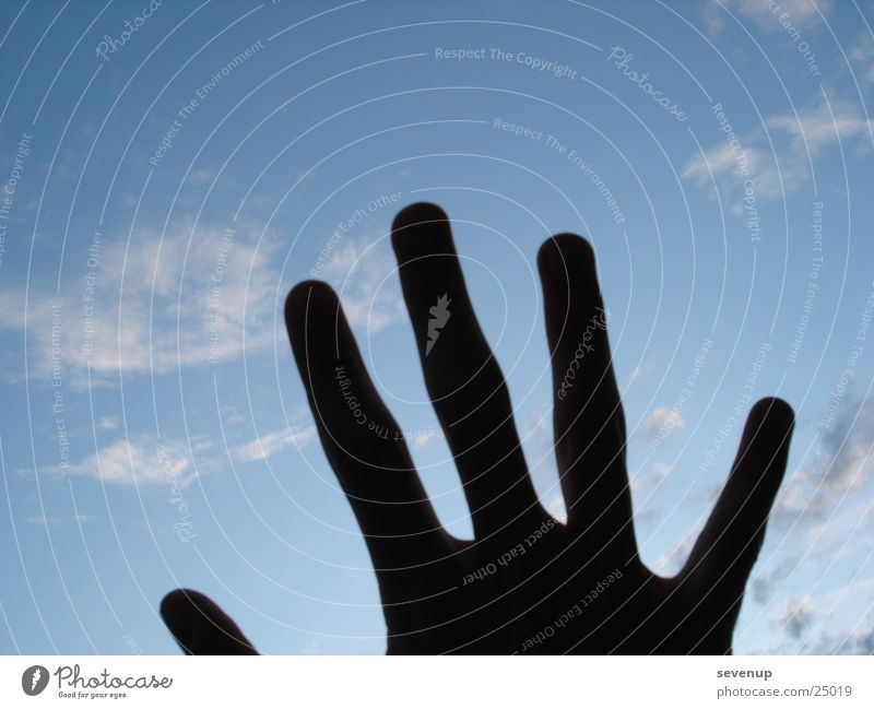 Hand Sky Clouds Dark Fingers Photographic technology