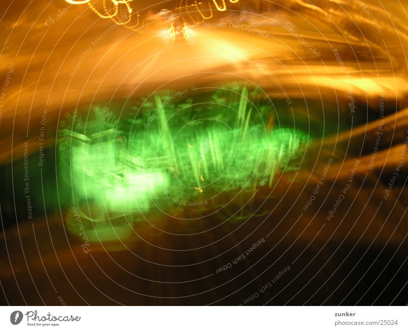 green Night Highway Long exposure dashboard psychedelic almost