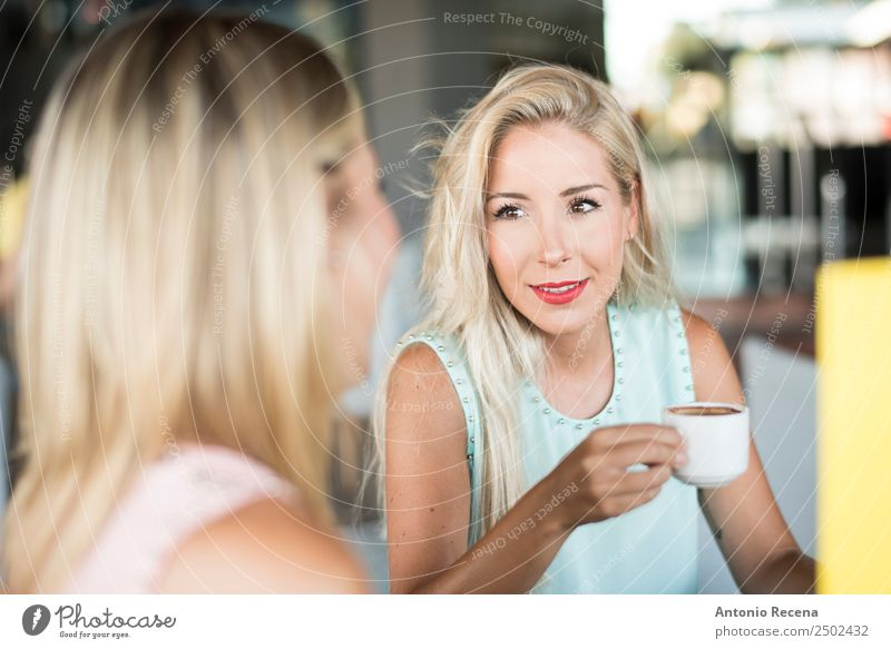 siblings coffee Beverage Drinking Coffee Lifestyle To talk Human being Woman Adults Sister Friendship 18 - 30 years Youth (Young adults) Terrace Fashion