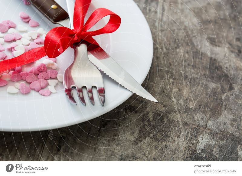 Valentine Dinner. Valentine's Day biscuits Dessert Food Healthy Eating Food photograph romantic Heart February Sweet Candy Decoration Icing Love