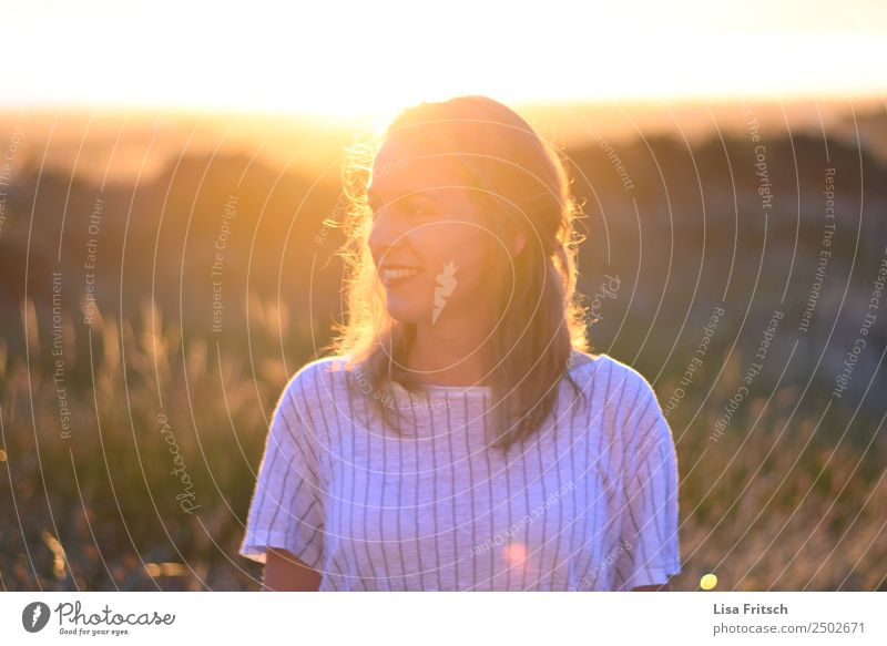 woman, sunset, bushes Vacation & Travel Summer Summer vacation Woman Adults 1 Human being 18 - 30 years Youth (Young adults) Nature Beautiful weather Bushes