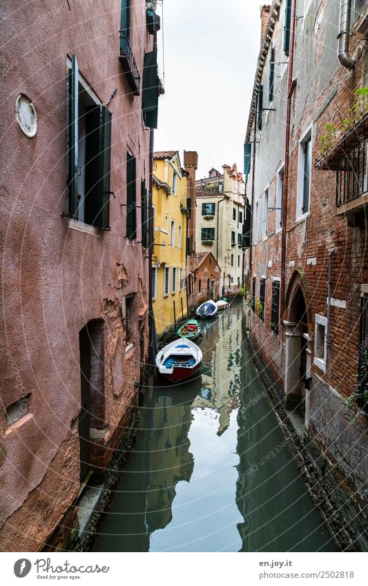 near the water Vacation & Travel Sightseeing City trip Summer vacation Venice Italy Europe Town Old town House (Residential Structure) Building Wall (barrier)