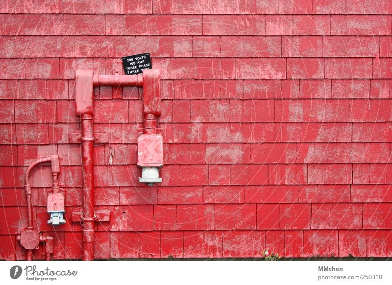 Red House (Residential Structure) Wall (building) Wall (barrier) Technology Transmission lines Hose Connection Access