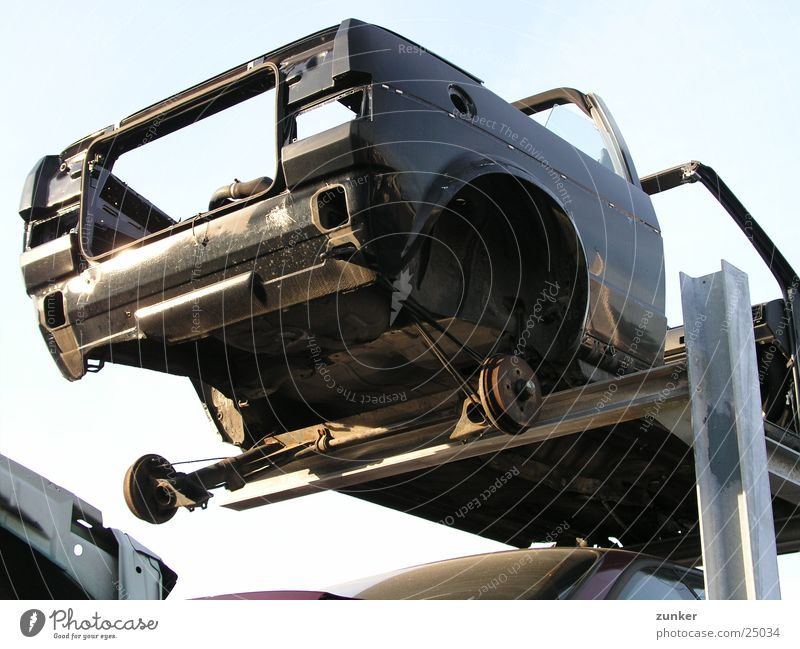 Sky Car Broken Obscure Rust Vista Scrap metal Scrapyard