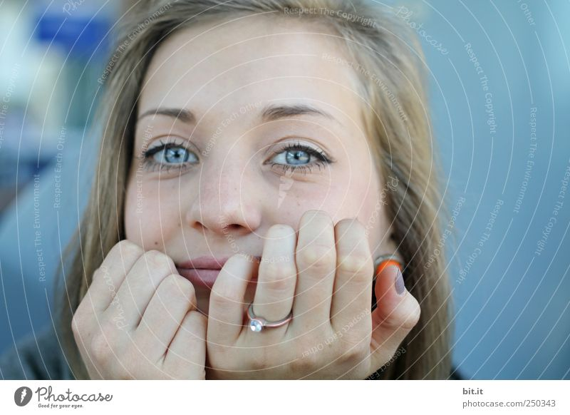 Blue. Beautiful Skin Face Education Adult Education Professional training Apprentice University & College student Feminine Young woman Youth (Young adults)