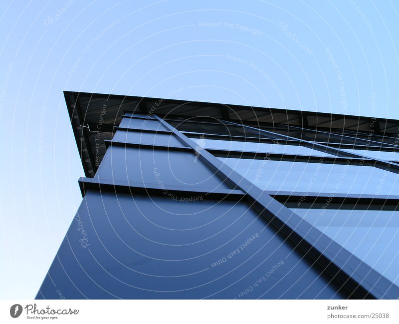 Sky Blue Window Metal Architecture Glass Perspective Roof Tin
