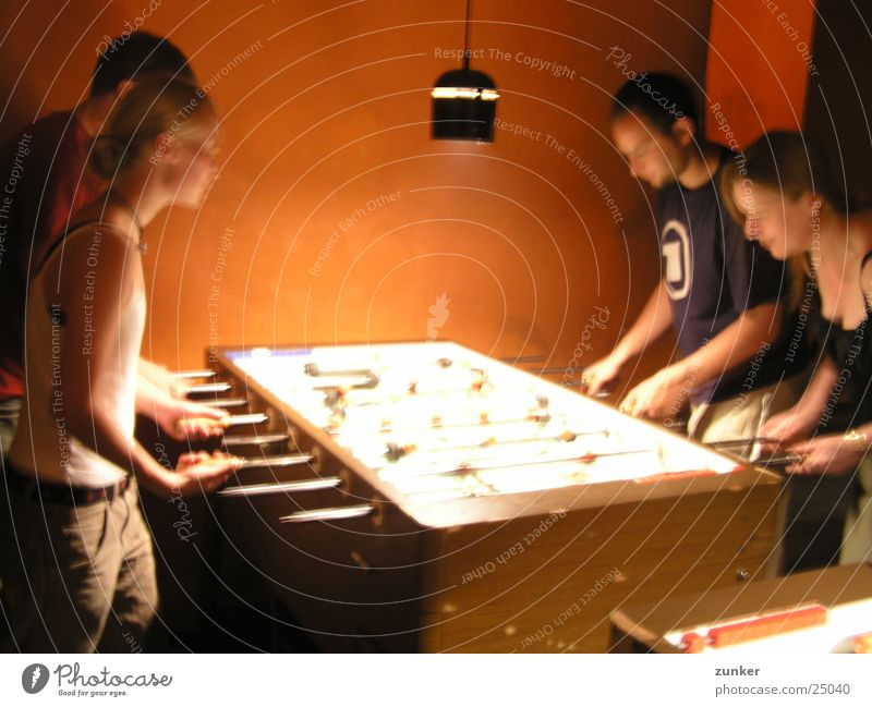 Human being Lamp Movement Group Orange Electricity Shoot Table soccer
