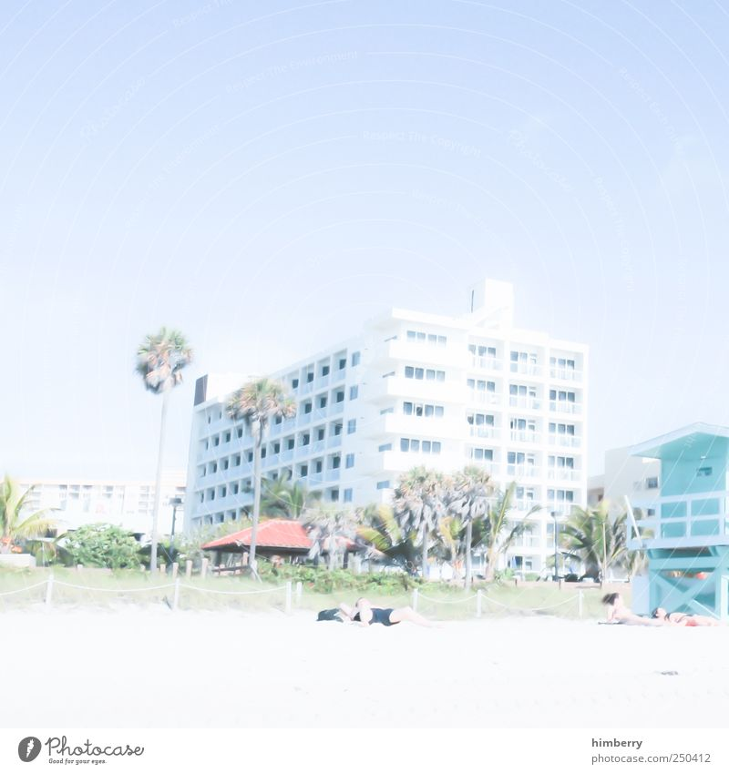 City Summer Vacation & Travel Beach Ocean Freedom Style Building Art Facade Tourism Lifestyle Manmade structures Hotel Balcony Luxury