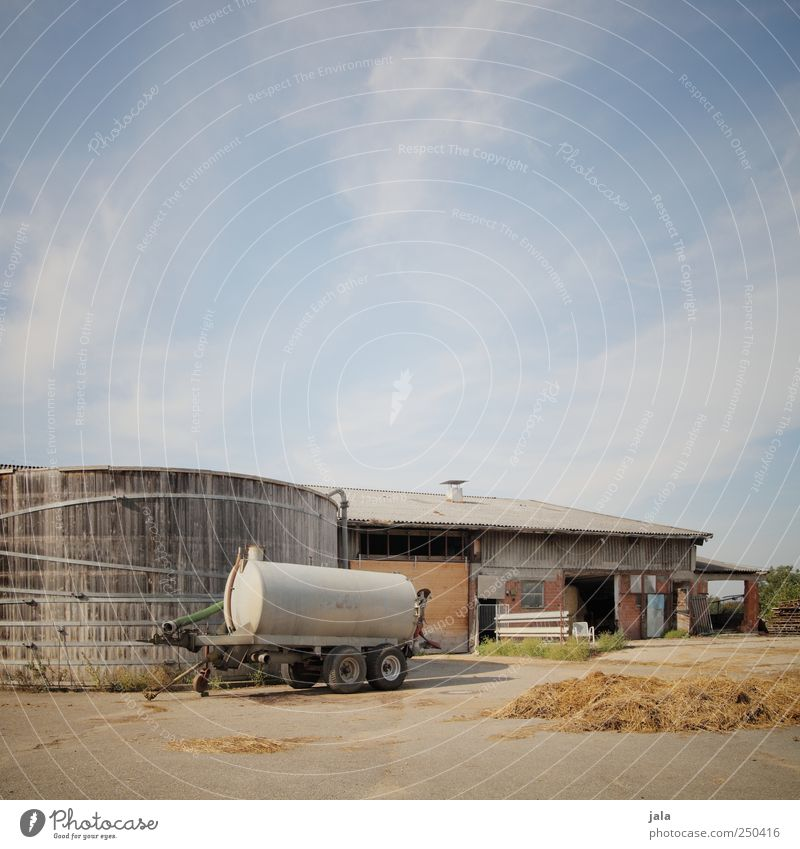 gülle in shell and fill Sky House (Residential Structure) Industrial plant Places Manmade structures Building Natural Silo Liquid Manure Trailer Farm