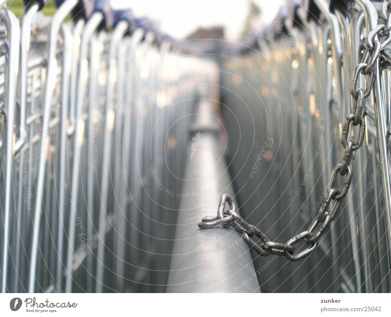 On the chain 1 Shopping Trolley Iron rod Industry Chain Metal Silver Escape Feasts & Celebrations