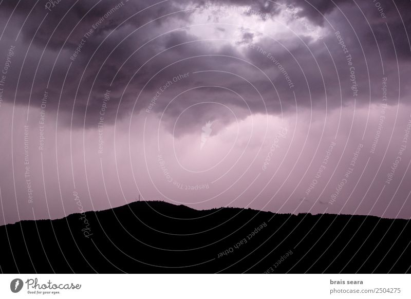 Thunderstorm clouds Education Science & Research Environment Nature Landscape Elements Earth Sky Clouds Storm clouds Night sky Climate Climate change Weather