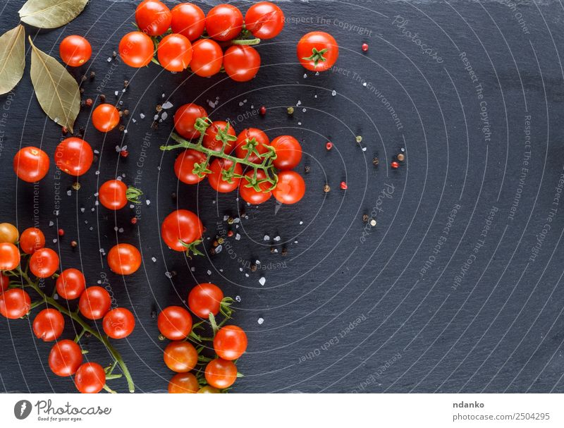 ripe red cherry tomatoes Vegetable Herbs and spices Vegetarian diet Summer Kitchen Eating Fresh Small Natural Above Green Red Black Cherry Tomato food healthy