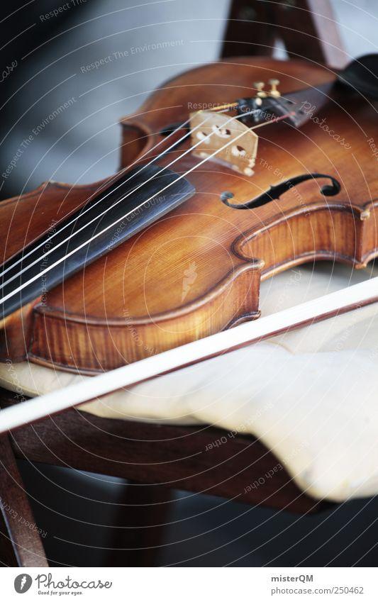 Art break. Cliche Soft Esthetic Music Musical instrument Sound system Violin Violin bow Violin Making Museum Orchestra Break Make music Classic Classical