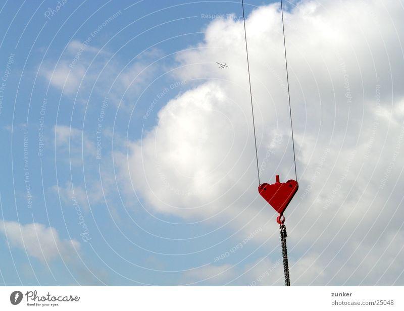 Sky Blue Clouds Rope Chain Crane Lift