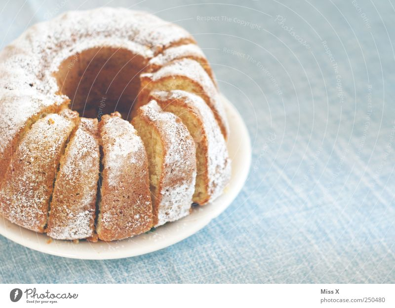 I would have expected you today... Food Dough Baked goods Cake Nutrition Breakfast To have a coffee Plate Delicious Sweet Gugelhupf Coffee cake Coffee table