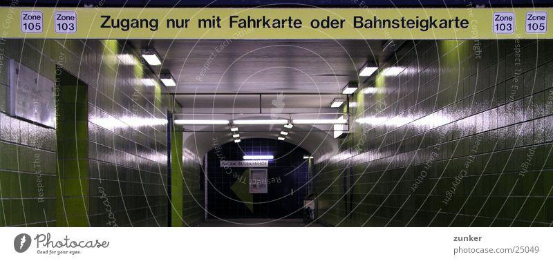 Green Transport Tile Tunnel Underground Train station Bans Commuter trains Platform Zone Ticket