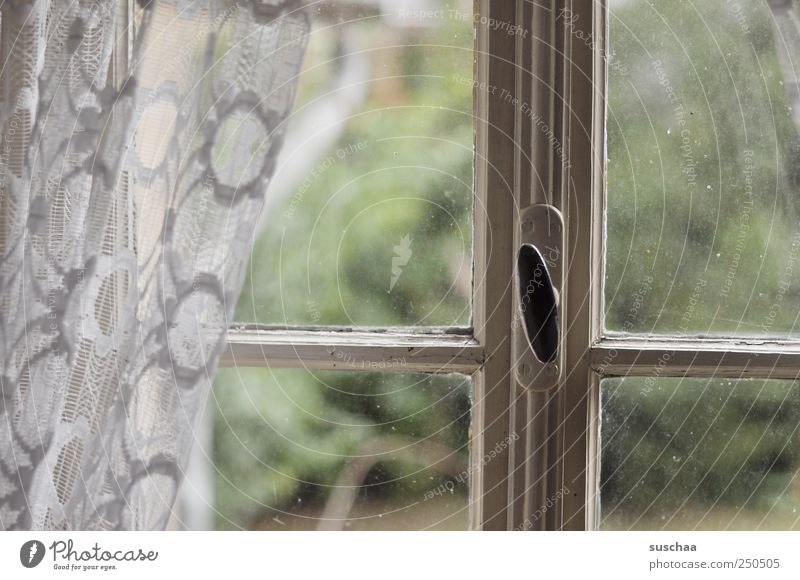 Old Window Wood Think Moody Glass Change Transience Past Decline Curtain Memory Hideous Vista Modest Pane