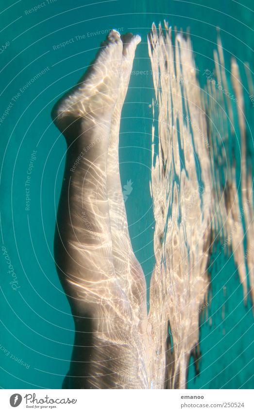 Human being Woman Water Green Beautiful Summer Ocean Joy Adults Life Legs Feet Swimming & Bathing Skin Wet Lifestyle