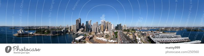 Sydney from Bridge Sydney Harbour Australia Town Skyline House (Residential Structure) High-rise Bank building Manmade structures Building Tourist Attraction