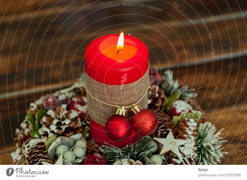 Candles decoration Life Winter Snow Decoration Feasts & Celebrations Christmas & Advent Wood Ornament Glittering Dark Bright New Yellow Gold Red White Colour