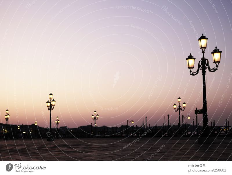 Square of lanterns. Art Esthetic Contentment Idyll Venice Veneto Basilica San Marco Lantern Lamp post Places Romance St. Marks Square Italy Italian Many