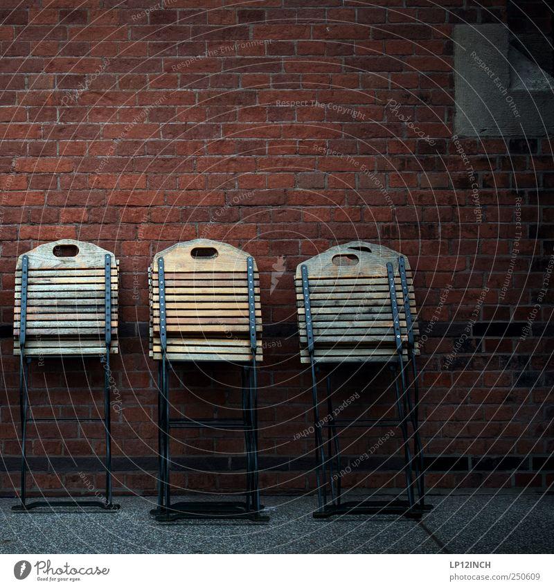 Summer Dark Cold Wall (building) Wood Chair Brick 5 Café Lean Folding chair To put