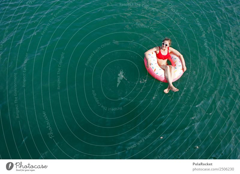 Woman Vacation & Travel Summer Sun Relaxation Calm Warmth Lake Swimming & Bathing Leisure and hobbies Esthetic Beautiful weather Youth culture Summer vacation