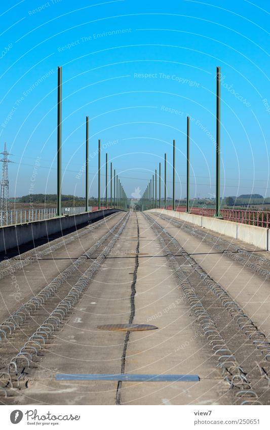 Nature Metal Concrete Arrangement Modern Transport Railroad Bridge Perspective New Construction site Authentic Logistics Simple Railroad tracks