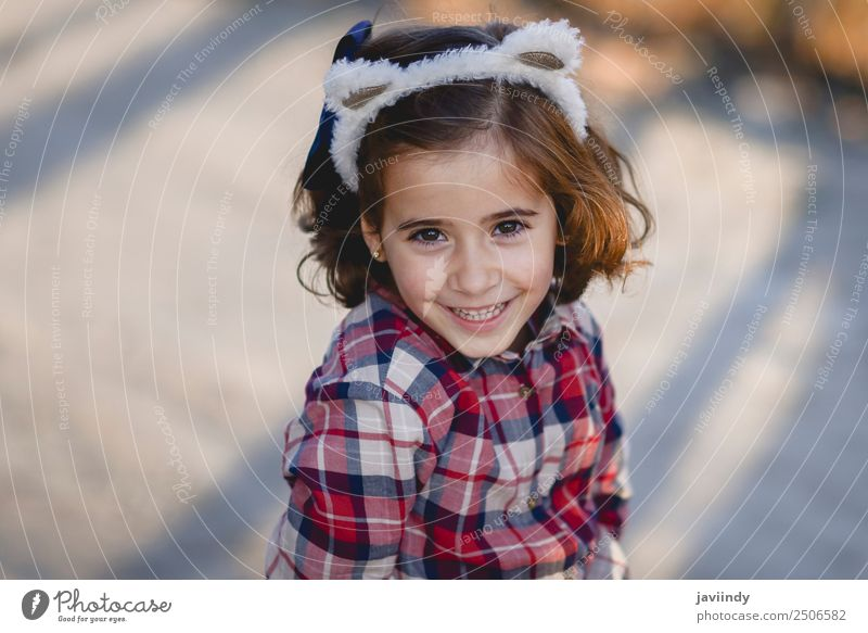 Happy adorable little girl smiling outdoors. Lifestyle Joy Beautiful Face Summer Child Human being Feminine Toddler Girl Woman Adults Infancy 1 3 - 8 years