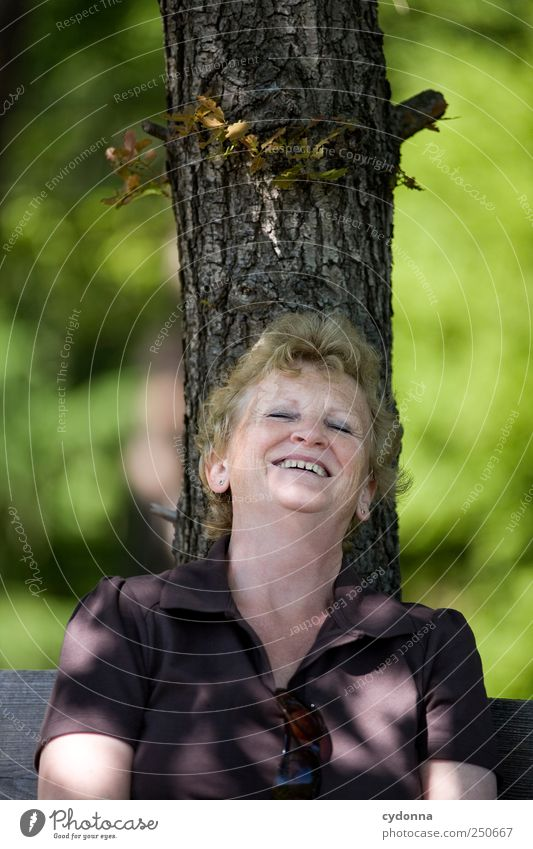 Human being Woman Nature Tree Summer Joy Adults Environment Life Senior citizen Emotions Happy Laughter Contentment Leisure and hobbies Trip