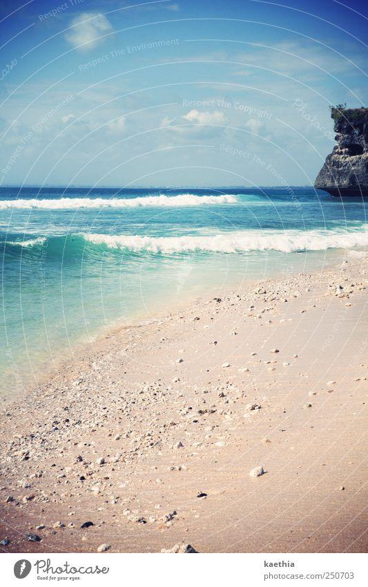 Sky Nature Vacation & Travel Ocean Summer Beach Joy Clouds Life Coast Sand Stone Horizon Earth Waves Swimming & Bathing