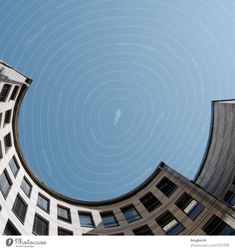 outright Sky Cloudless sky House (Residential Structure) Building Window Blue Gray Semicircle Arch Colour photo Subdued colour Exterior shot Deserted