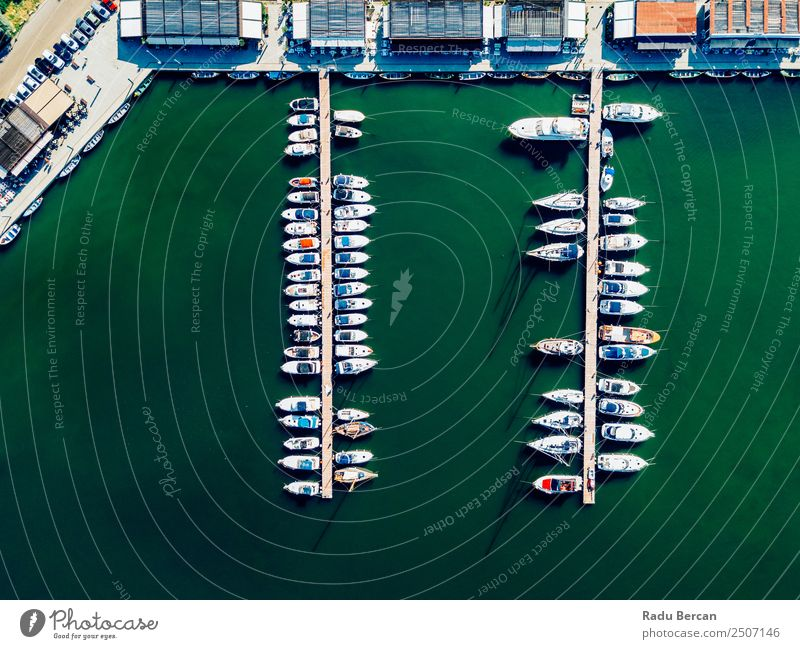 Aerial View Of Luxury Yachts And Boats In Port At The Black Sea Aircraft Aerial photograph Drone Vantage point Watercraft Yacht harbour