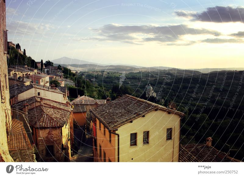 fight the weather with some south. Montepulciano Tourism Tuscany Italy Town Old town Small Town Old building Hill Vacation & Travel Far-off places Wanderlust
