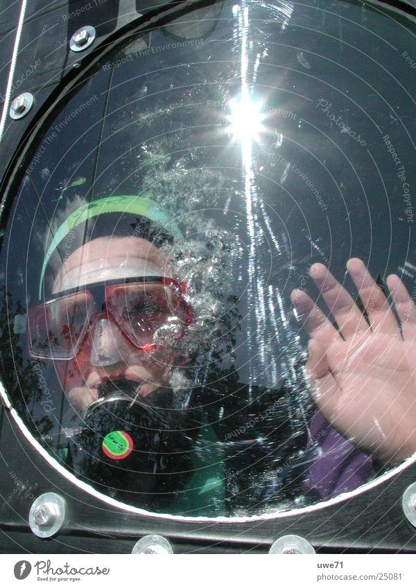scuba diver Diver Human being Sun