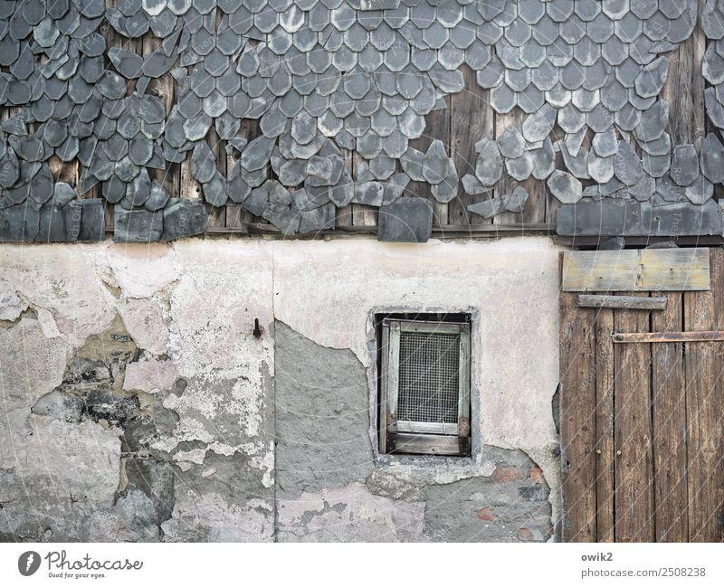 Old House (Residential Structure) Calm Window Wall (building) Wall (barrier) Facade Door Gloomy Transience Broken Historic Past Serene Decline Derelict