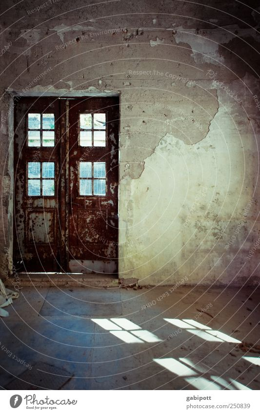 Old House (Residential Structure) Wall (building) Window Wall (barrier) Building Brown Door Gloomy Living or residing Change Transience Past Decline Trashy Ruin