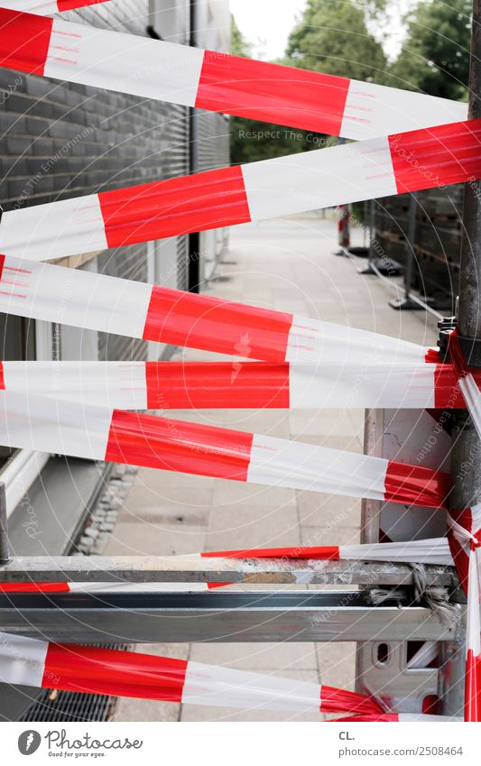 cordon Construction site House (Residential Structure) Wall (barrier) Wall (building) Transport Traffic infrastructure Street Lanes & trails Barrier Red White