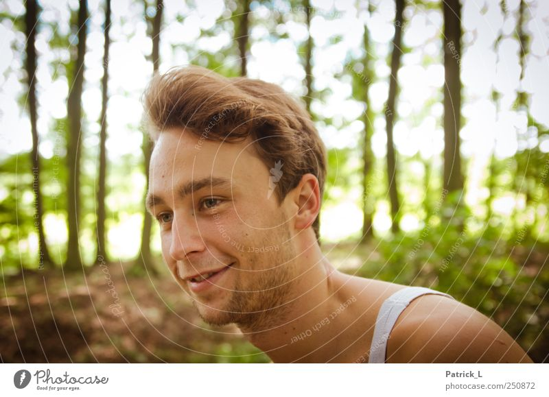 Man Nature Youth (Young adults) Green Summer Joy Animal Forest Yellow Landscape Laughter Happy Brown Trip Happiness Lifestyle