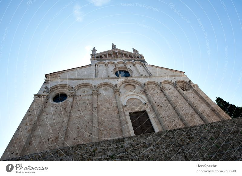 Old Blue Gray Architecture Stone Building Facade Stairs Church Threat Italy Monument Historic Landmark Dome Tourist Attraction